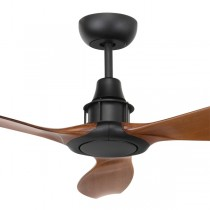 "Mahogany Black Ceiling Fans Concorde2 58"" DC Moulded 3Blade Brilliant Lighting"