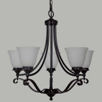 Dallas 5 Lights Pendant Lighting Bronze Period Traditional