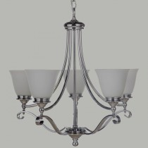 Traditional Lighting Dallas 5 Lights Pendants Chrome Period Lode International