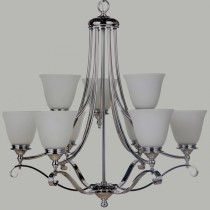 Dallas 9 Lights Chandelier Pendants Lighting Chrome Contemporary Lode International