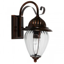 Devon Copper Bronze Wall Lights IP44 Outdoor Lighting Exterior Cage Period