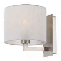 Nickel Elgar Wall Lights Telbix Sconce Lighting