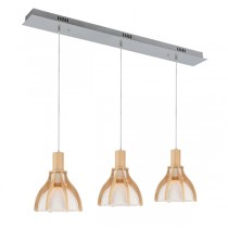 Erika 3 Lights Pendants Timber Bench Kitchen Lighting Wooden