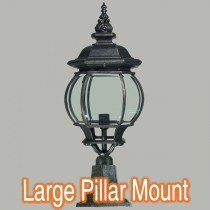 Flinders Pillar Mount Lights Traditional Outdoor Period Lighting Exterior Lode