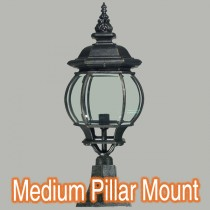 Flinders Pillar Mounted Lights Exterior Lighting Brick Top Traditional