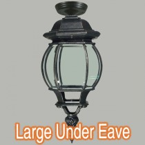 Grand Lighting Exterior Under Eave Outdoor Lights Black Traditional Period