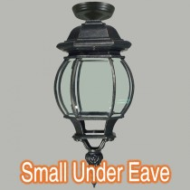 Flinders Black Eave Lighting Traditional Patio Exterior Lights