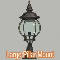 Flinders Traditional Exterior Lighting Bronze Pillar Mount Light