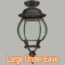 Flinders Eave Under Patio Lighting Bronze Period Lights Outdoor Exterior