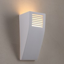 Flute Plaster LED Lights Wall Sconce Lighting Flush Marden Design