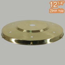 12.25 inch Gallery Polished Brass Traditional Period Lighting