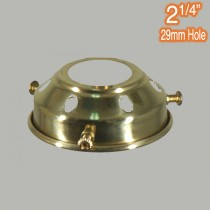 2.25 inch Gallery Polished Brass Traditional Period Lighting