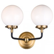 Goth 2L Wall Light - Opal Glass