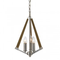 Graf 3 Lights Pendants Lantern Lighting Timber Ceiling Telbix