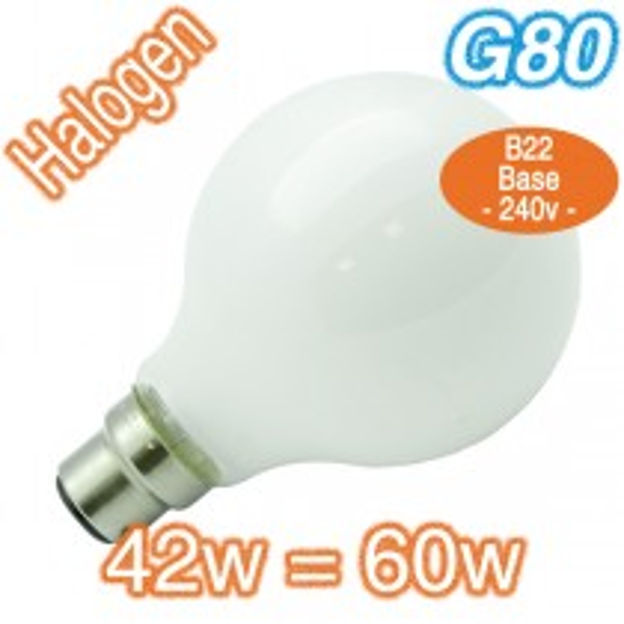 Cheap Milky B22 Halogen Bulb G80 60w Lamp 240v Globe