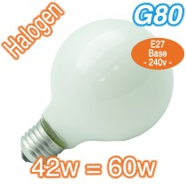 Cheap G80 Frosted 60w E27 Halogen Lamp 240v Globe