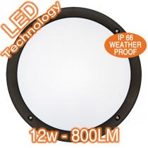 Hardy LED Round Bunker Lights Exterior IP66 Outdoor Flush Wall Lighting