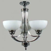 Contemporary Lighting Houston Flush CTC Ceiling Lights Chrome