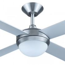 "Intercept2 52"" with Light Ceiling Fans AC Brushed Aluminium Plywood Hunter Pacific"