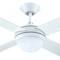 "Intercept2 52"" with E27 Light AC White Ceiling Fans Plywood Hunter Pacific"
