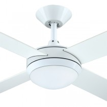 "LED White Ceiling Fans Intercept2 52"" Dimming Light AC Plywood Hunter Pacific"