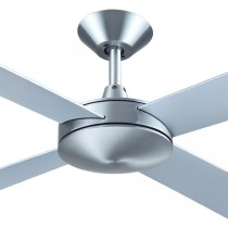 "Ceiling Fans Intercept2 52"" Quiet Bedroom AC Brushed Aluminium Plywood Hunter Pacific"