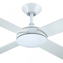 "White Ceiling Fans Bedroom Quiet Intercept2 52"" AC Plywood Hunter Pacific"