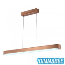 Copper LED Lighting Linear Bench Lights Suspended Commercial Cafe Pendants