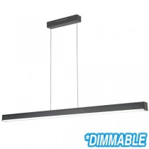 Cheap Pendants Black Lighting LED Linear Bench Cafe Lights Suspended Commercial