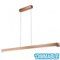 Copper Lighting LED Pendants Linear Bench Lights Suspended Commercial Aluminium Extrusion