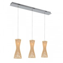 Julissa 3 Lights Pendants Bamboo Kitchen Bench Lighting Cafe Modern