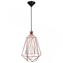 Copper Industrial Pendants Lighting Cafe Cage Ceiling Lights