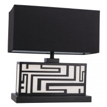 Katey Hotel Table Lamp Black Light Shade
