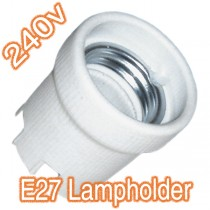 E27 Ceramic Lamp Holder 240v