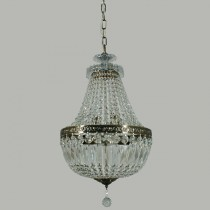 Lighting Le Pavillon Large Hanging Basket Crystal Lights Brass Lode International