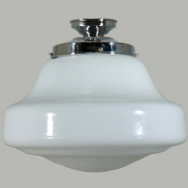 Period Lighting Lincoln Schoolhouse Glassware Lights DIY Brass Lode Batten Fix