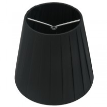 Black Pleated Clip-On Ling Fabric Shade