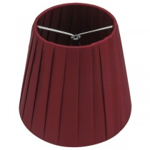 Ling Pleated Clip-On Fabric Shade Burgundy