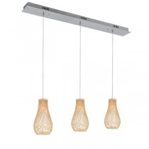 Madison 3 Lights Pendants Kitchen Bench Bamboo Lighting Ceiling