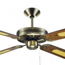 "Majestic Coolah Antique Brass 52"" AC Timber Ceiling Fans Hunter Pacific"