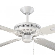 "Majestic Coolah White 52"" AC Timber Ceiling Fan Hunter Pacific"