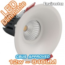 12w Dimmable COB LED MDL611 White Downlight Kit