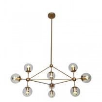 Bronze Modo Triangle Chandelier Brass Lighting Replica Jason Miller Lights Pendants