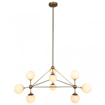 Triangle Lighting Brass Gold Modo Chandelier Brass Replica Jason Miller Lights