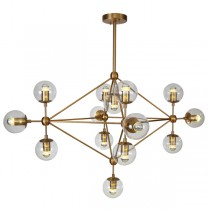 Gold Modo 14 Lights Chandelier Diamond Replica Jason Miller Lighting