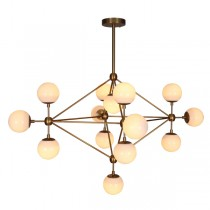 Lighting Modo 14 Lights Chandelier Burnished Brass Pendants Replica Jason Miller
