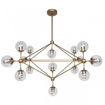 Burnished Brass Modo Square Lighting Replica Jason Miller Gold Chandelier Lights