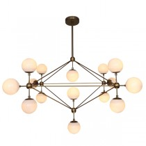 Modo Gold Lighting Replica Jason Miller Chandelier Lights Square Burnished Brass