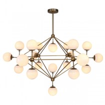 Rubbed Brass Pendants Replica Jason Miller Lighting Modo Gold Chandelier Lights