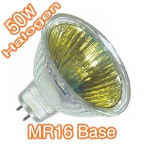 Cheap Coloured Bulbs 12v MR16 50w Yellow Coloured Lens Halogen Lamps Globes